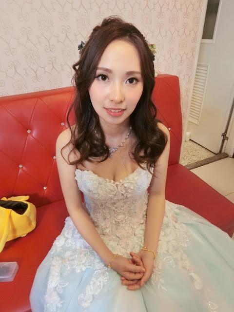 台北新秘 | 台北新娘秘書 | 台北新秘推薦 | 新秘Tsai Summer | 乾燥花新秘 | 淡水新秘 | 湖水藍禮服 | 水藍色禮服 |  送客造型 | 外拍造型 | 新娘造型2018