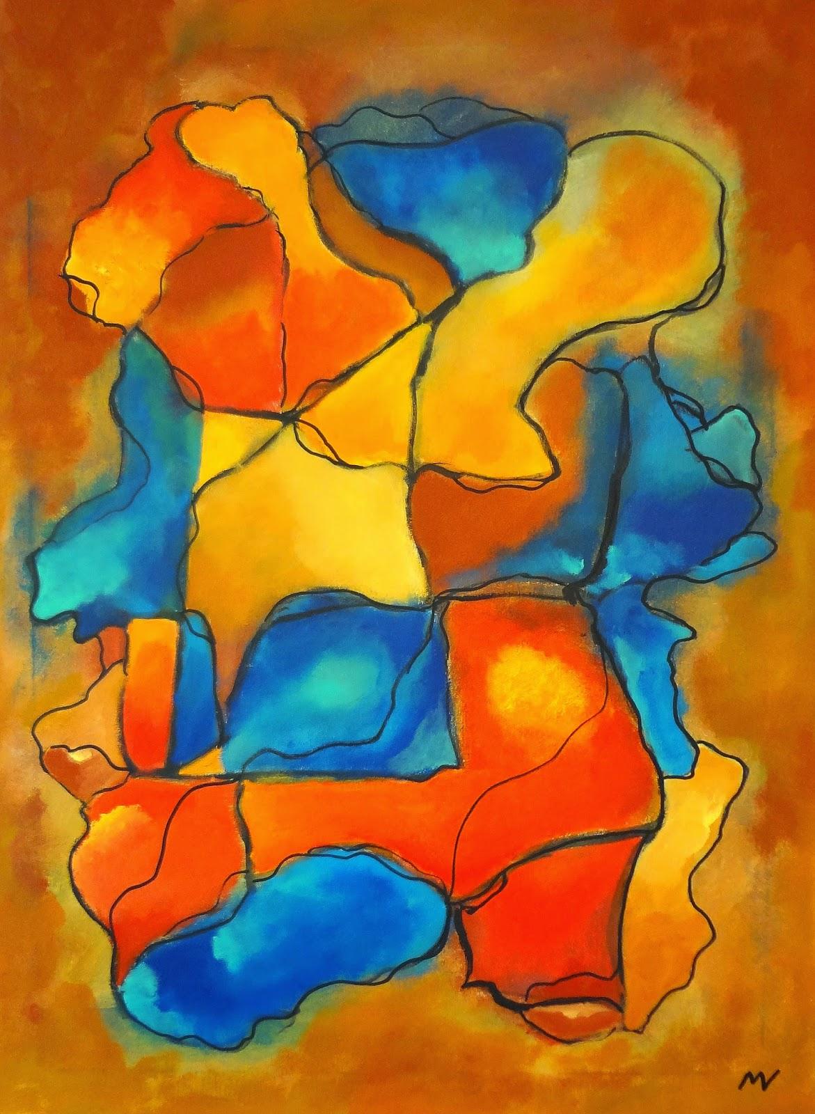 schilderijen acrylverf op doek