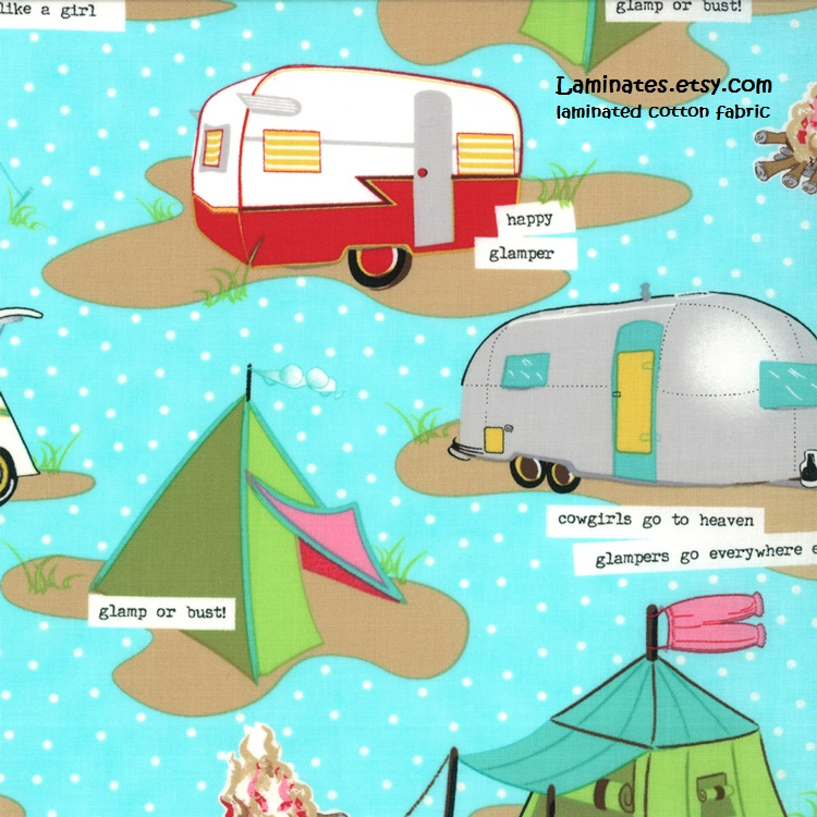 Laminated Cotton Fabric Glamping By Mary Janes Farm