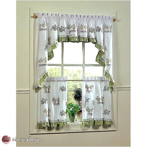 Elegant Kitchen Curtains 23