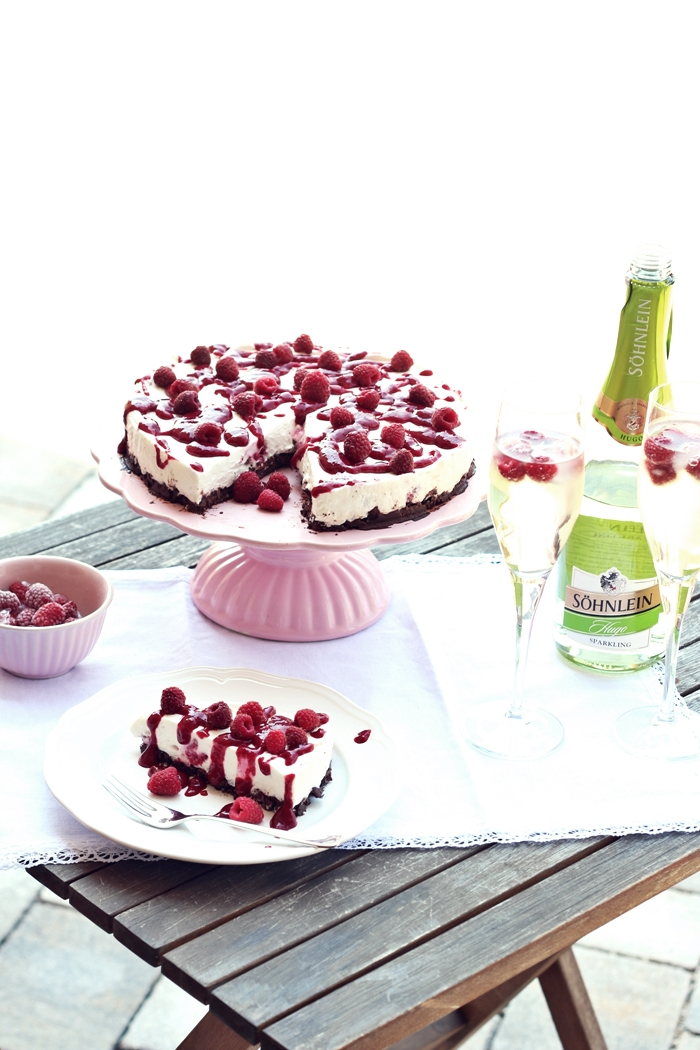 Himbeer Mascarpone Torte Mit Schoko Crunch Boden Fashion Kitchen