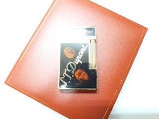 Korek Api Mewah S.T. Memorial Dupont C114 Black Gold Metal Bright Sound With Luxury Box