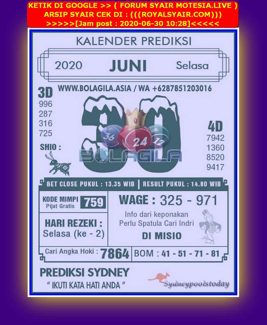 Kode syair Sydney Selasa 30 Juni 2020 190