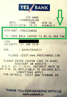 Freecharge coupons for old users december