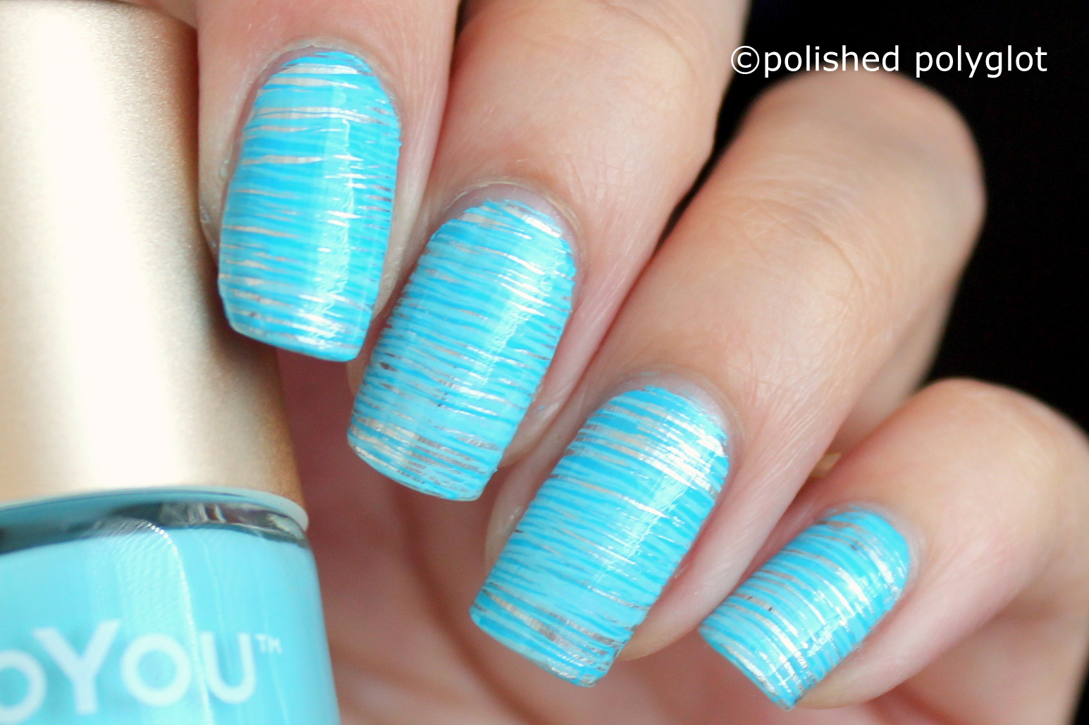 Nail art aqua blue nail design for summer 26gnai polished i hope you like it i find this design super appropriate for a beach vacation or for swimming pool season let me know your thoughts in the comment prinsesfo Choice Image