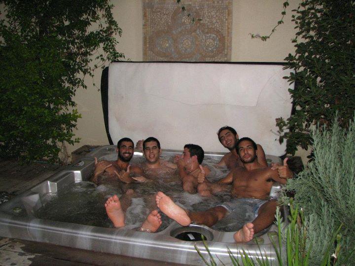 Idea hot tub footjob
