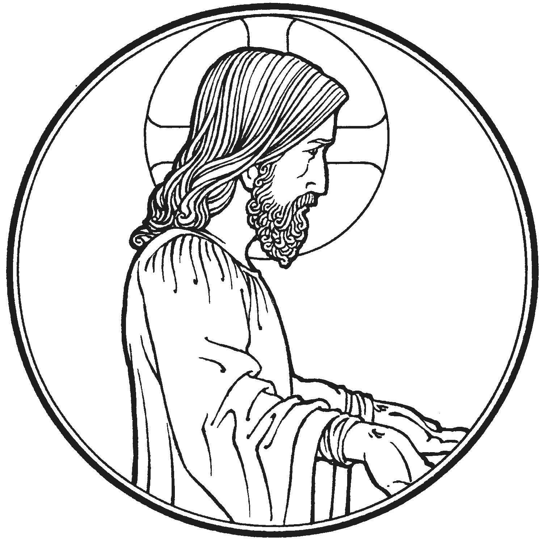 Jesus Peace Coloring Page