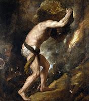 Sisyphus (1548–49) by Titian,