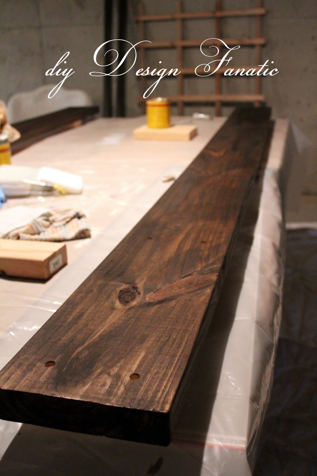 I Stained The Two Headers With Oil Based Jacobean Stain By