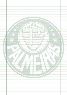 Papel Pautado do Palmeiras PDF para imprimir na folha A4