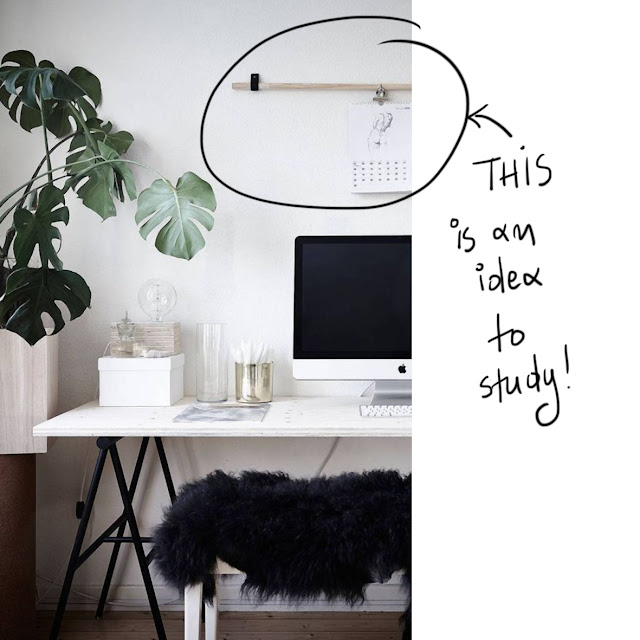 minimal office wall decor idea • the round button blog