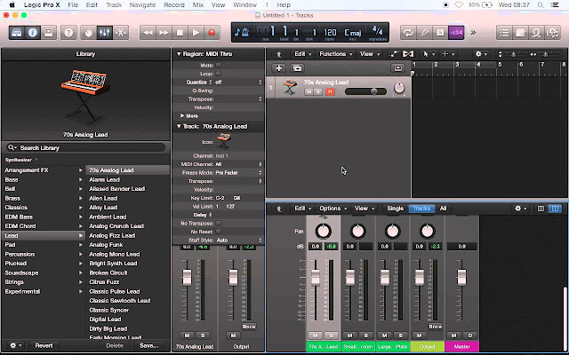 Much like Garageband, Logic Pro offers a range of instruments and effects built in.