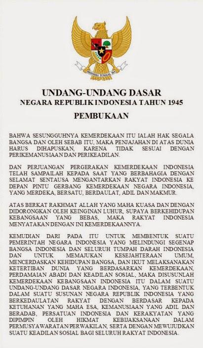 Makna Alinea Pembukaan UUD 1945 | D'KINGS Blogspot