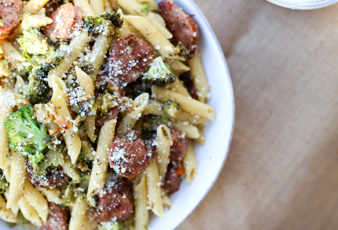 Chicken Sausage and Broccoli Pasta - Lake Shore Lady