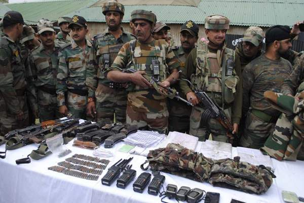 Arms seized from dead terrorists had Pakistan markings