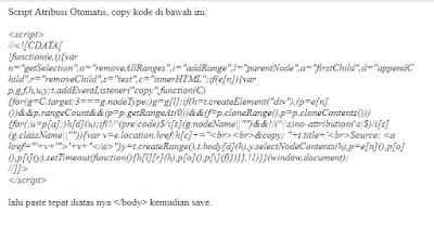 Script Atribusi Otomatis