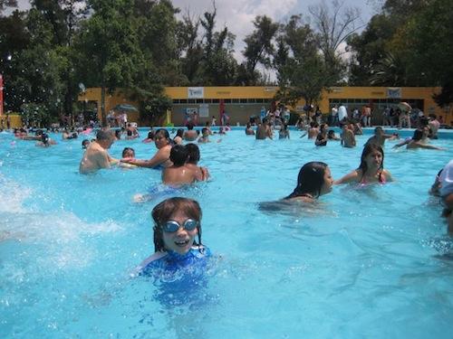 Balneario del parque acuatico del bosque de san juan de aragon