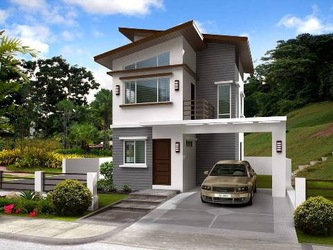 Collection 50 beautiful narrow house design for a 2 story for Narrow lot homes single storey