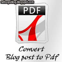 Convert Blog Posts to PDF file in Blogger Blog
