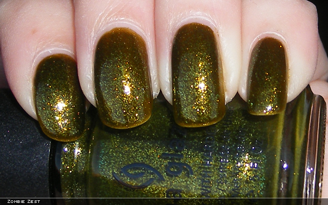 xoxoJen's swatch of China Glaze Zombie Zest