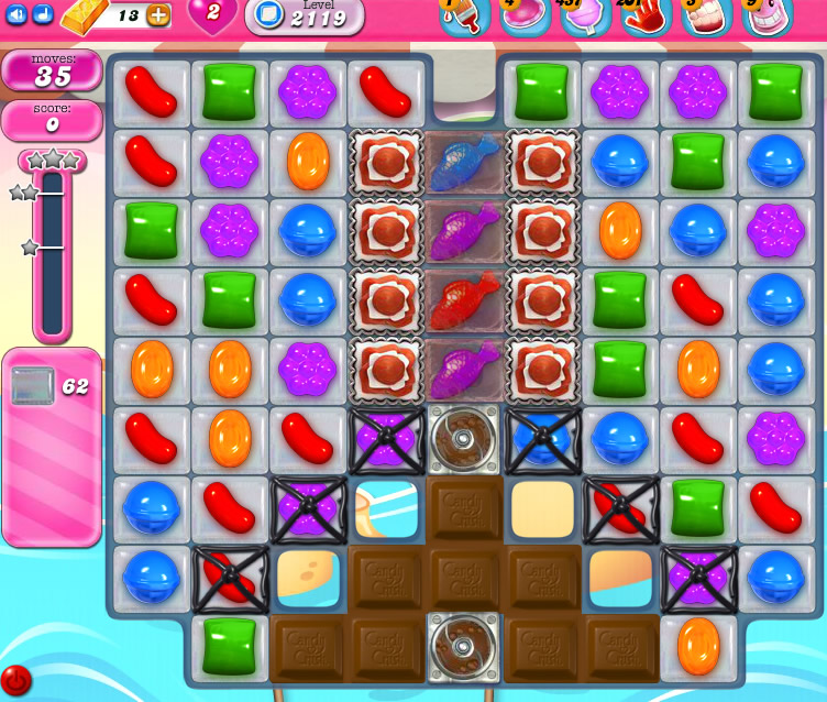 Candy Crush Saga level 2119