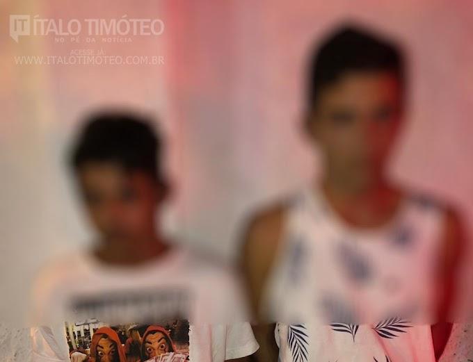 Suspeitos de cometerem assaltos são presos pela PM em Delmiro Gouveia