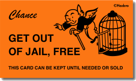 Do not be surprised july 2013 for Get out of jail free card template