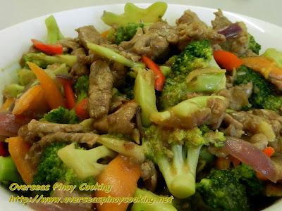 Pork and Broccoli Stirfry with Oyster Sauce