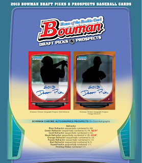 2013 Bowman Chrome Draft Picks and Prospects Logo Print Runs