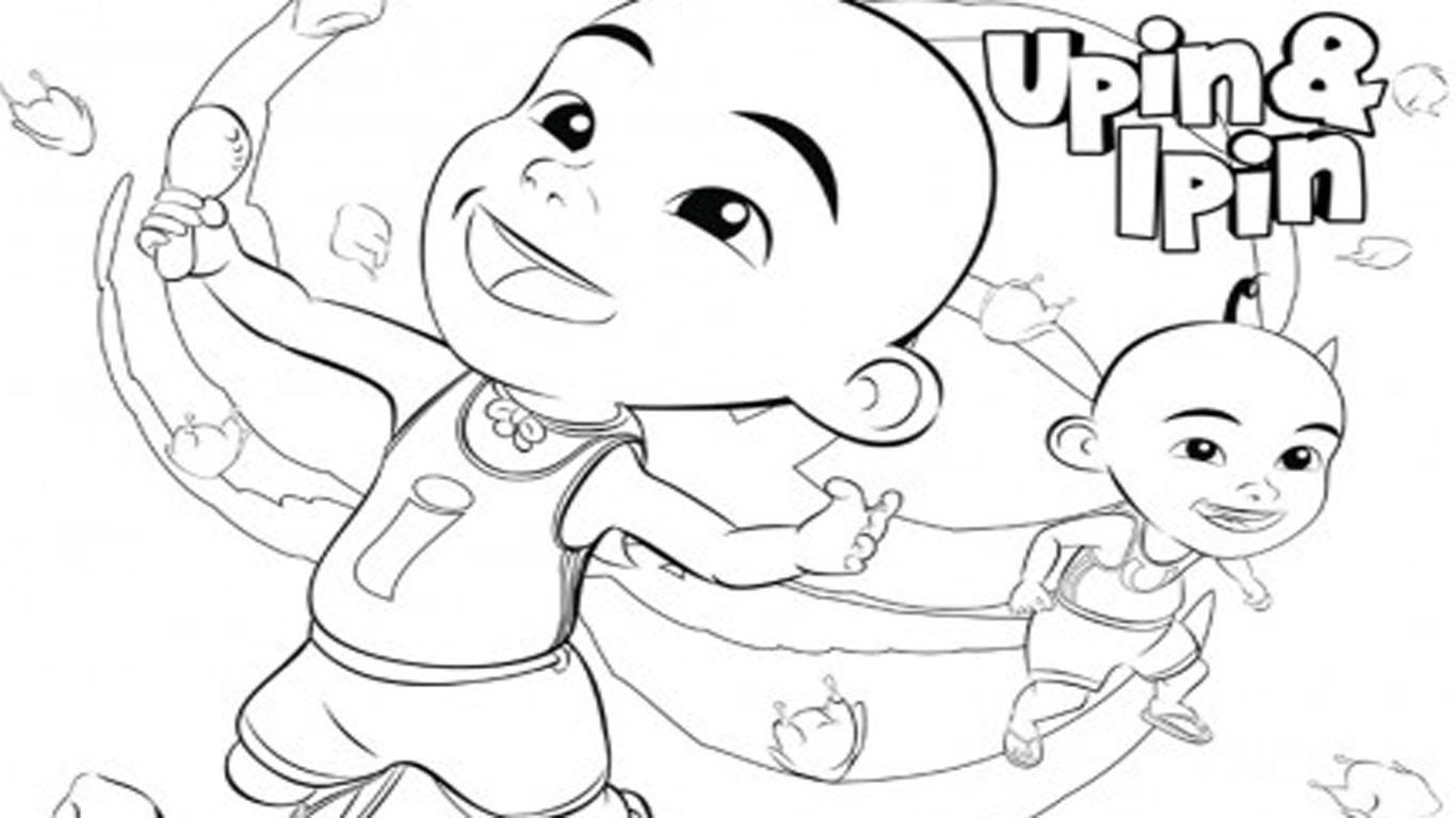 Kumpulan Gambar Animasi Upin Ipin Hitam Putih Hitamputih44