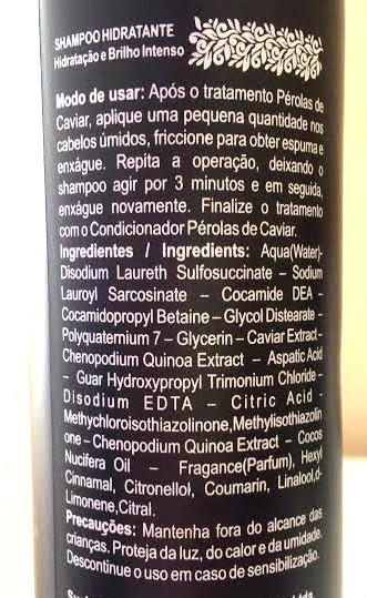 shampoo perolas de caviar widicare composicao
