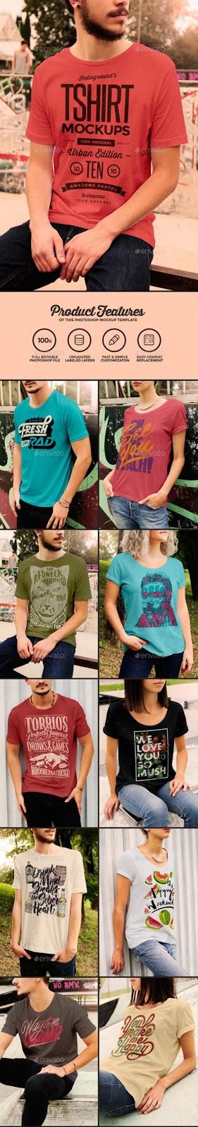 2. Urban T-Shirt Mockups