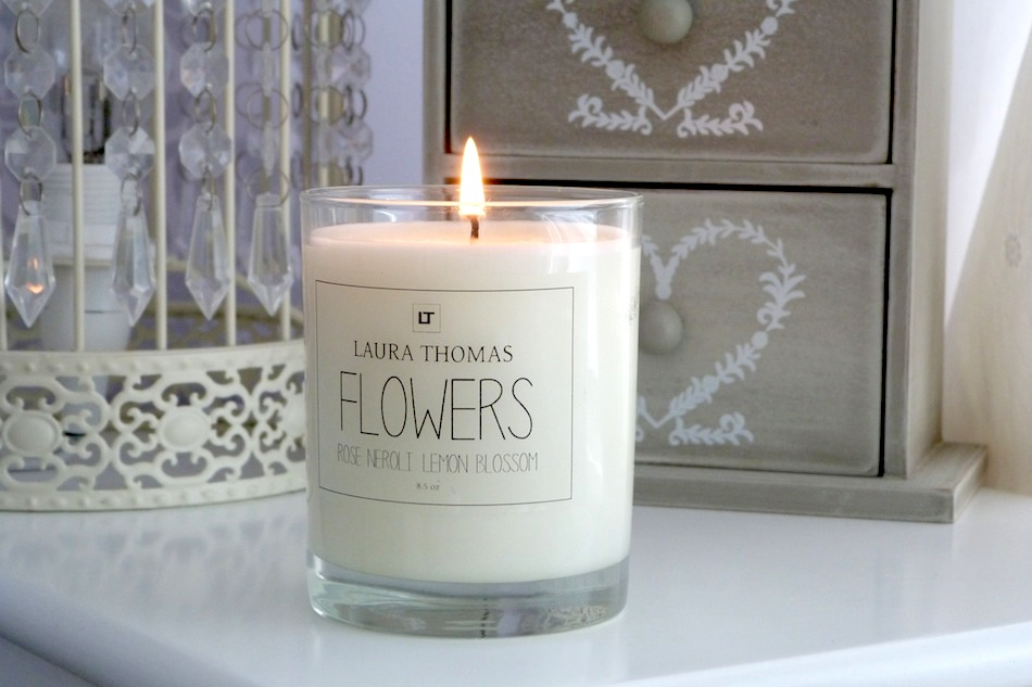 an image of laura thomas flower candle review