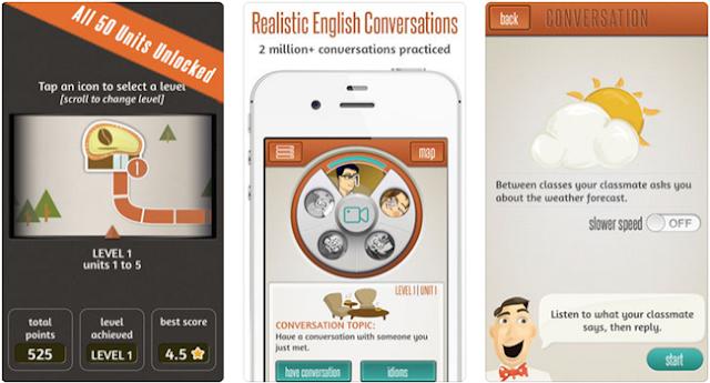 تطبيق  Supiki English Conversation Speaking Practice لتعلم المحادثة باللغة الإنجليزية للأيفون و الايباد