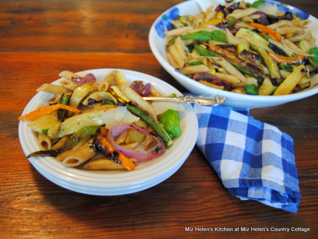 Grilled Italian Pasta Salad at Miz Helen's Country Cottage