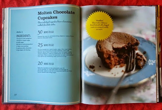 On The Table In 30 Minutes Recipe Cookbook Review Molten Cupcakes