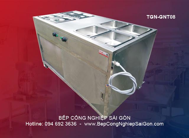 Tủ giữ nóng thức ăn phổ thông loại có tủ dưới & di động