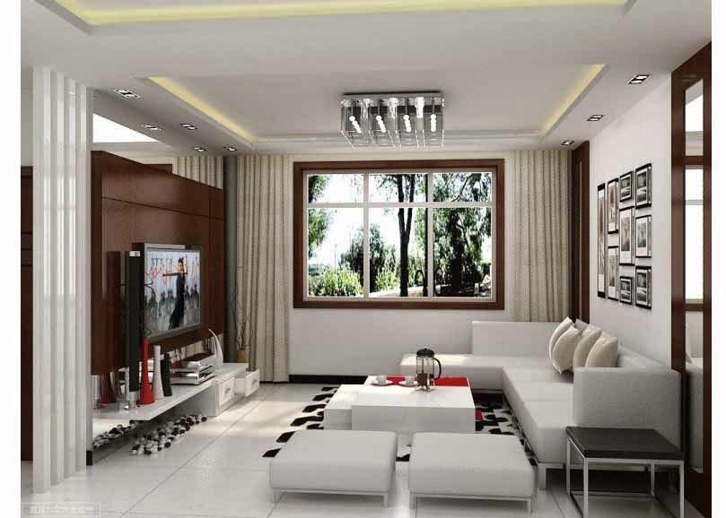 Ini Menggunakan Ide Desain Ruang Tamu Modern Dengan Kombinasi Minimalis Dan Dekorasi Interior Yang Baik Sofa Putih Berbentuk Huruf L