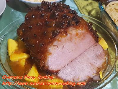 Mango Pineapple Glaze Ham Slices