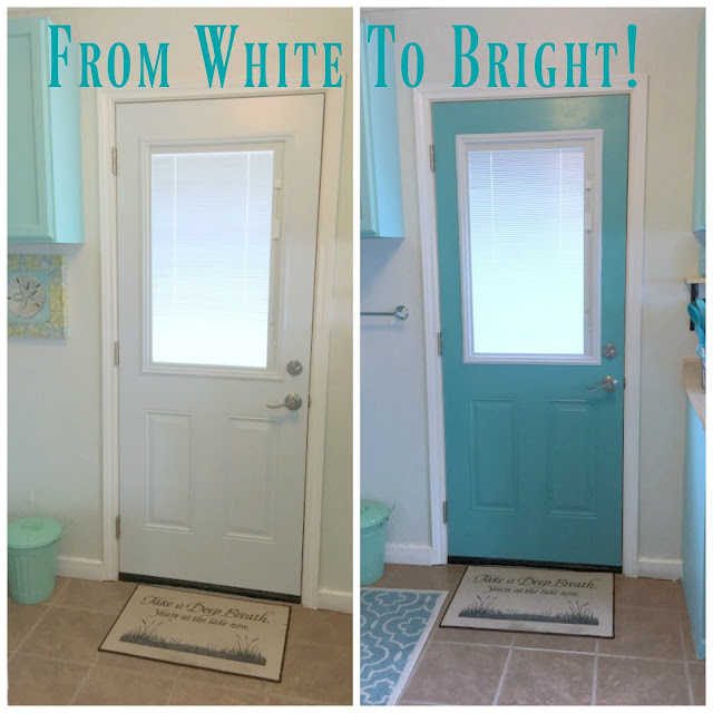 Take your Door from blah to Great Lakehouse update:  White to Bright...make your door look great!
