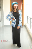 Actress Tejaswi Madivada Stills in Balck Long Dress at Babu Baga Busy Movie Interview  0027.jpg