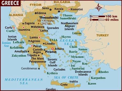 mapa grecia salonica El viajero sagaz: GRECIA mapa grecia salonica