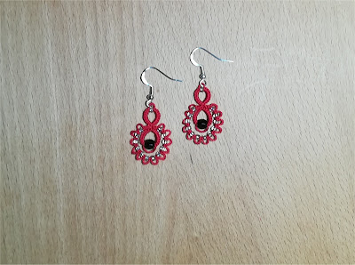 "Tatting earrings ""Drop"" - Orecchini a chiacchierino ""Drop"""