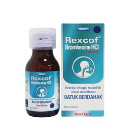 Rexcof - Manfaat, Dosis, Efek Samping dan Harga
