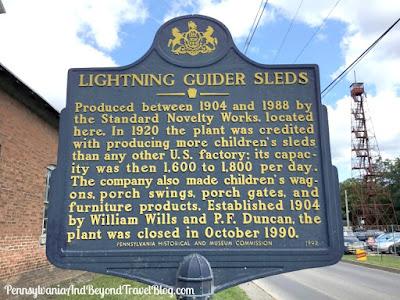 Lightning Guider Sleds Historical Marker Duncannon Pennsylvania
