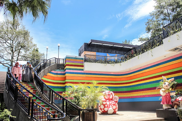 colorful stairs at rabbit town