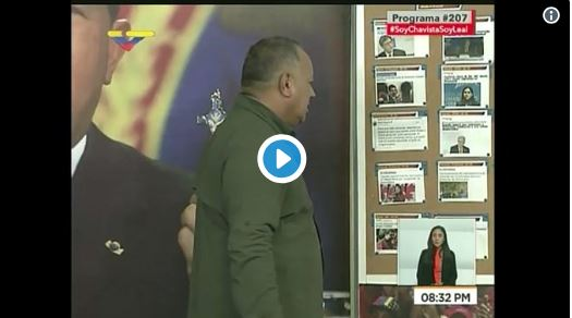 Diosdado Cabello llamó becerra a la Eurodiputada