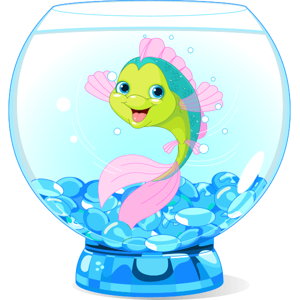 Happy Fish in a Bowl
