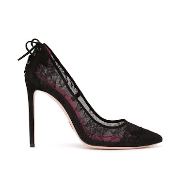 oscar tiye noor black lace pumps