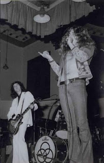 Jimmy Page & Robert Plant onstage in Aberdeen Scotland 1973